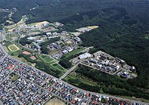 テクノパーク鳥瞰空撮写真
