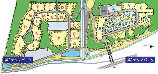 札幌テクノパークの地図